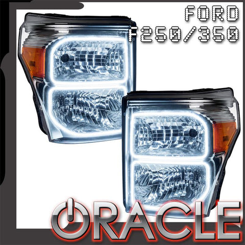 2011-2016 Ford F250/350 Pre-Assembled Headlights - Chrome