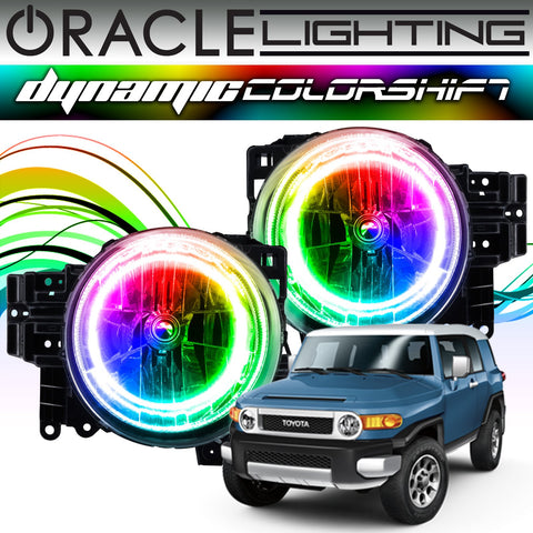 2007-2014 Toyota FJ Cruiser ORACLE Dynamic ColorSHIFT Headlight Halo Kit