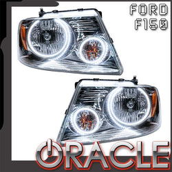 2005-2008 Ford F-150 Pre-Assembled Headlights - Chrome