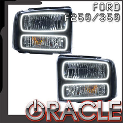 2005-2007 Ford F250/F350 Pre-Assembled Headlights - Black