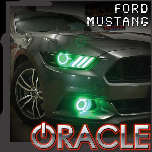 2015-2017 Ford Mustang ORACLE LED Projector Fog Halo Kit-Waterproof