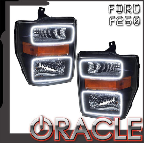 2008-2010 Ford F250/F350 Pre-Assembled Headlights - Black