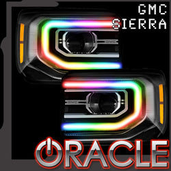 2016-2018 GMC Sierra ORACLE LED ColorSHIFT DRL Halo Kit