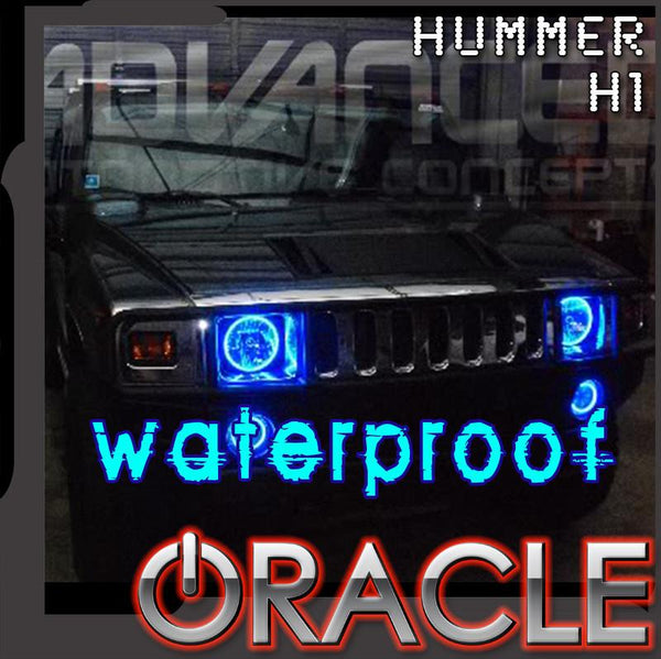 1992-2006 Hummer H1 ORACLE LED Headlight Halo Kit-Waterproof