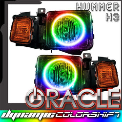 2006-2008 Hummer H3 Pre-Assembled Headlights - Dynamic ColorSHIFT