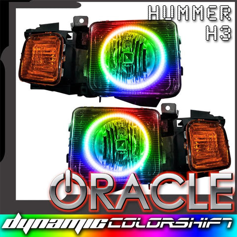 2006-2010 Hummer H3 Pre-Assembled Headlights - Dynamic ColorSHIFT