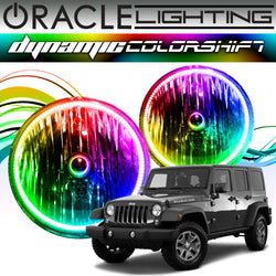 2007-2017 Jeep Wrangler ORACLE Dynamic ColorSHIFT Headlight Halo Kit