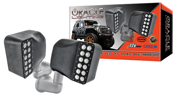 Oracle Jeep Wrangler Jk Led Off Road Side Mirrors Oracle