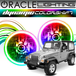 1997-2006 Jeep Wrangler TJ ORACLE Dynamic ColorSHIFT Headlight Halo Kit