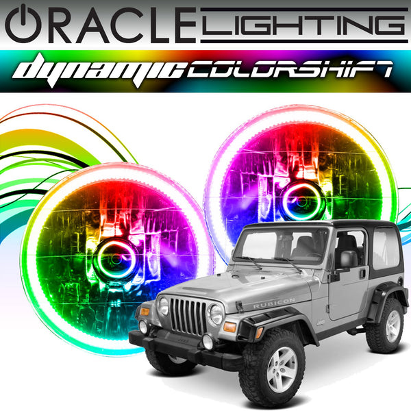 1997-2006 Jeep Wrangler ORACLE Dynamic ColorSHIFT Headlight Halo Kit