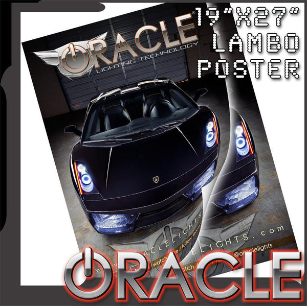 "Official ORACLE Lambo Poster 19"" x 27"""