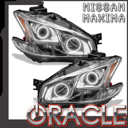 2009-2014 Nissan Maxima Pre-Assembled Headlights-Non HID-CHROME