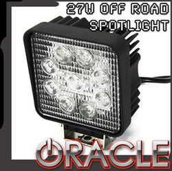 "ORACLE Off-Road 4.5"" 27W Square LED Spot Light - CLEARANCE"