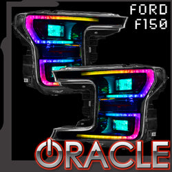 2018-2019 Ford F150 Dynamic ColorSHIFT DRL Replacements + Dynamic Turn Signals