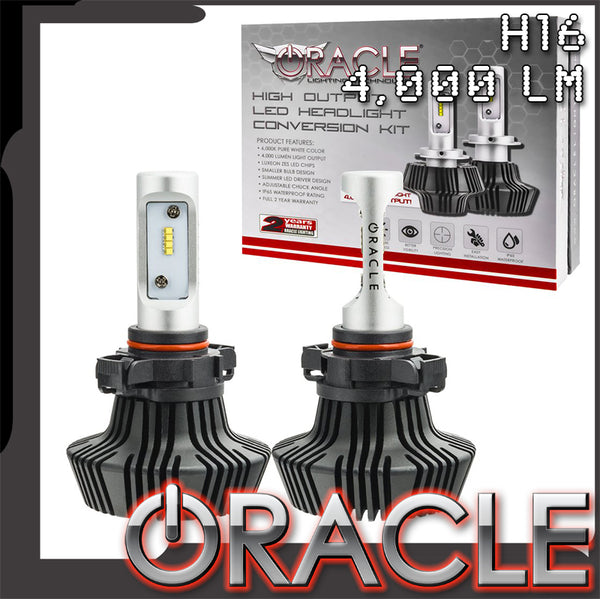 ORACLE H16 4,000+ Lumen LED Headlight Bulbs (Pair)