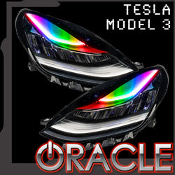 2017-2020 Tesla Model 3 ORACLE ColorSHIFT Headlight DRL Upgrade - PRE-ORDER