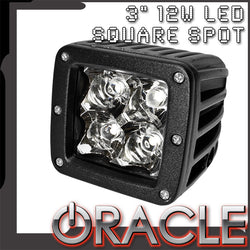 "ORACLE Off-Road 3"" 12W LED Square Spot Light - CLEARANCE"