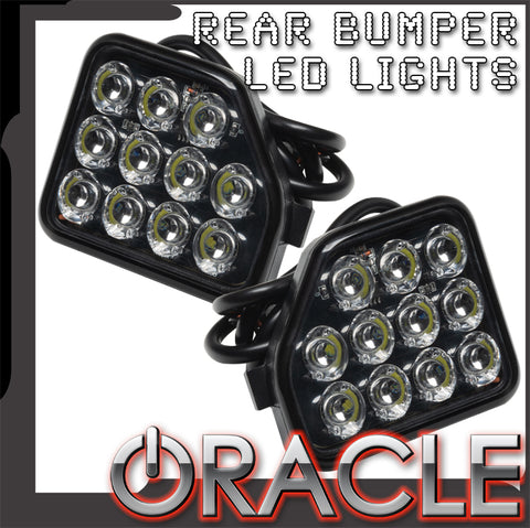 ORACLE Lighting Rear Bumper LED Reverse Lights for Jeep Wrangler JL