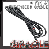 ORACLE 4 Pin 6' Extension Cable - Illuminated Wheel Rings - ColorSHIFT