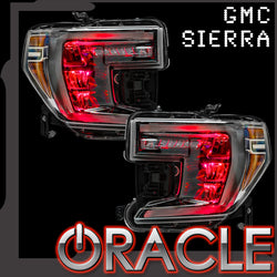 2019-2020 GMC Sierra ORACLE ColorSHIFT RGB Demon Eye Headlight Upgrade