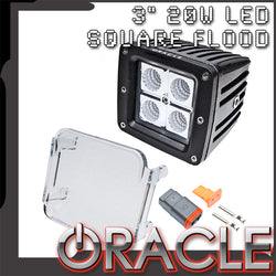 "Off-Road 3"" 20W LED Square Flood Light - CLEARANCE"