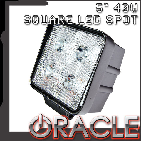 "Off-Road 5"" 40W Square LED Spot Light - CLEARANCE"