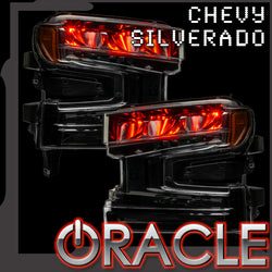 2019-2021 Chevrolet Silverado 1500 ORACLE ColorSHIFT RGB Demon Eye Headlight Upgrade