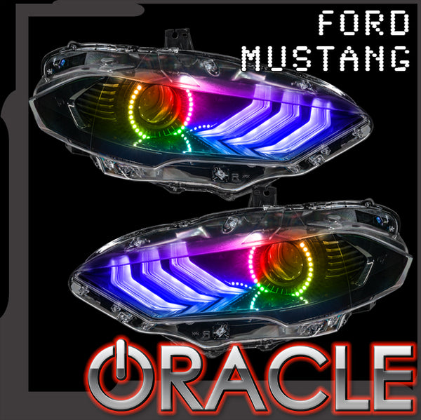 2018-2021 Ford Mustang ORACLE ColorSHIFT Halo Kit w/ ColorSHIFT DRL