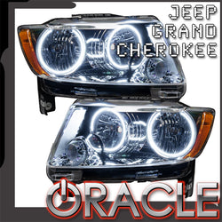 2011-2013 Jeep Grand Cherokee Pre-Assembled Headlights - Non HID - Chrome