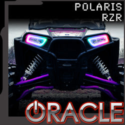 ORACLE Lighting 2014-2021 Polaris RZR 900 / 1000 Turbo Dynamic ColorSHIFT® RGB+A Surface Mount Headlight Halo Kit