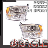 2009-2018 Ram Sport Pre-Assembled Headlights - Chrome