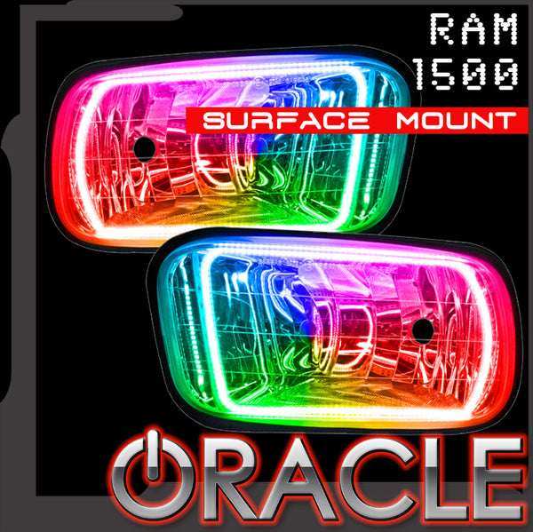ORACLE Lighting 2009-2015 RAM 1500 ColorSHIFT® Surface Mount Fog Light Halo Kit