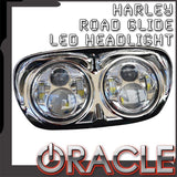 ORACLE Harley Road Glide Replacement LED Headlight - Chrome