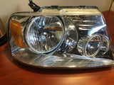 USED 2005-2008 FORD F-150 PRE-ASSEMBLED HEADLIGHTS- CHROME - AMBER 7043-005 - CLEARANCE
