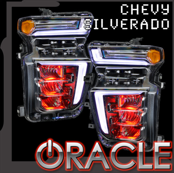 2020-2021 Chevrolet Silverado HD 2500/3500 ORACLE Lighting ColorSHIFT® Demon Eye RGB Upgrade - PRE-ORDER