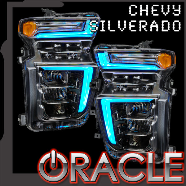 2020-2021 Chevrolet Silverado HD 2500/3500 ORACLE Lighting ColorSHIFT® RGB+W Headlight DRL Upgrade - PRE-ORDER