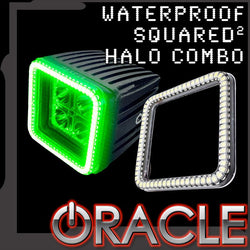 ORACLE Waterproof Squared Halo w/ 20W ORACLE LED Spot Light