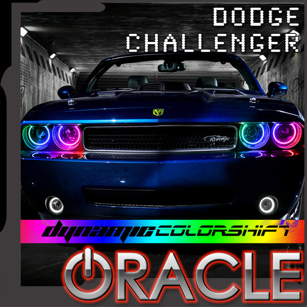 2008-2014 Dodge Challenger ORACLE Dynamic ColorSHIFT Headlight Halo Kit - Standard Mount