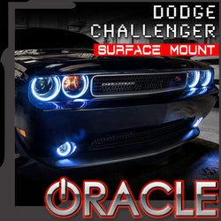 ORACLE Lighting 2008-2014 Dodge Challenger Headlight Halo Kit - Surface Mount
