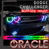 ORACLE Lighting 2008-2014 Dodge Challenger Dynamic ColorSHIFT® Headlight Halo Kit - Surface Mount