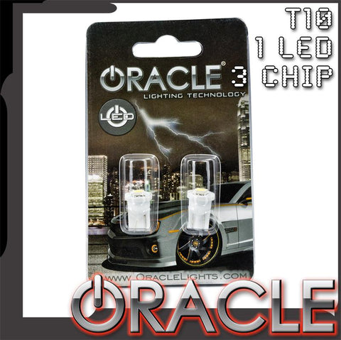 ORACLE T10 1 LED 3 Chip Bulbs (Pair)