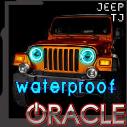 1997-2006 Jeep Wrangler TJ ORACLE LED Headlight Halo Kit-Waterproof