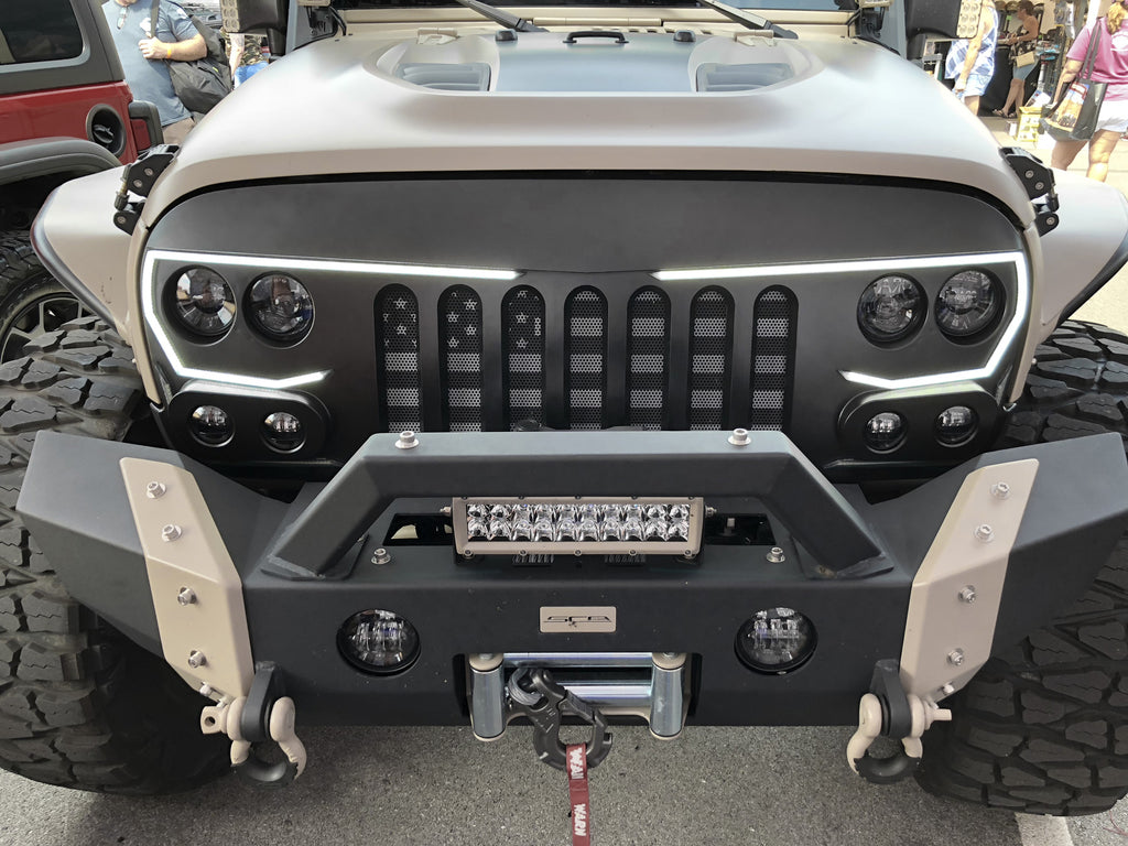 Oracle Lighting Vector Series Full Led Grill Jeep Wrangler Jk Tj Front Suspension Diagram Further 1997