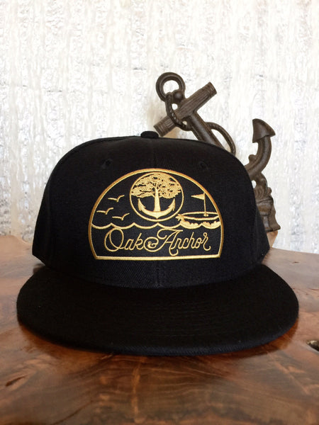 Oak&Anchor Snappy Time Captain Black Golf Hat