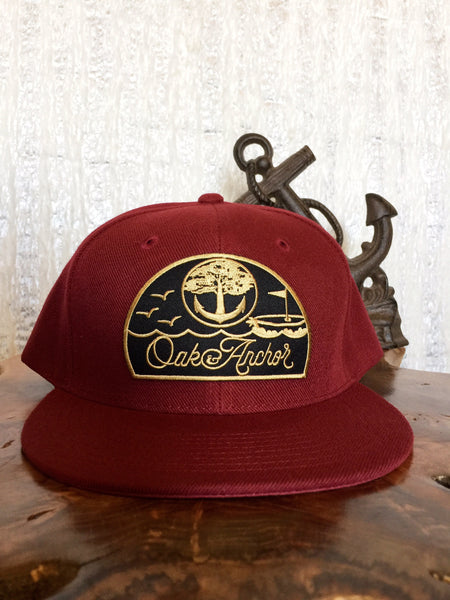 Oak&Anchor Snappy Time Captain Maroon Golf Hat