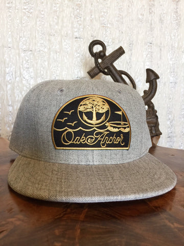Oak&Anchor Snappy Time Captain Heather Grey Golf Hat