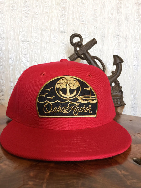Oak&Anchor Snappy Time Captain Red Golf Hat