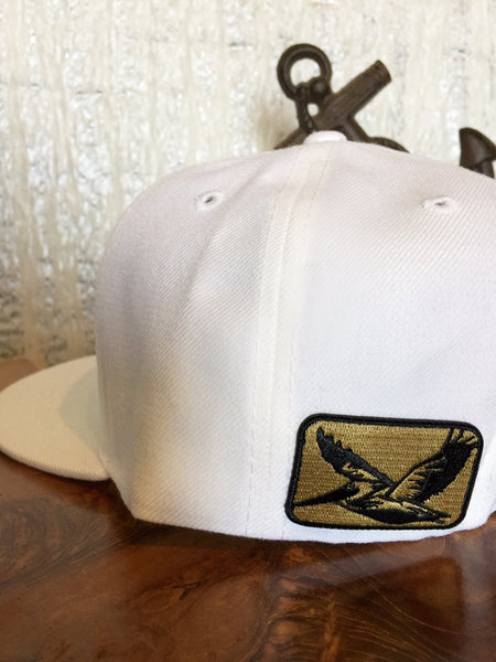 Oak&Anchor Snappy Time Captain White Golf Hat