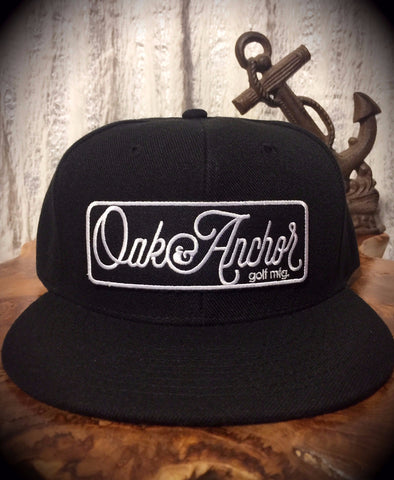 Oak&Anchor Snappy Time Black Big Bar Golf Hat