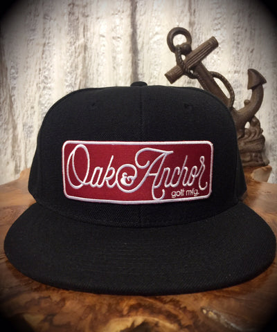 Oak&Anchor Snappy Time Red Label Black Big Bar Golf Hat